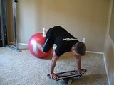 Jon Ham Personal Trainer - Bongo Board Pushups on Ball