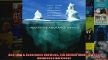 Auditing  Assurance Services 5th Edition Auditing and Assurance Services