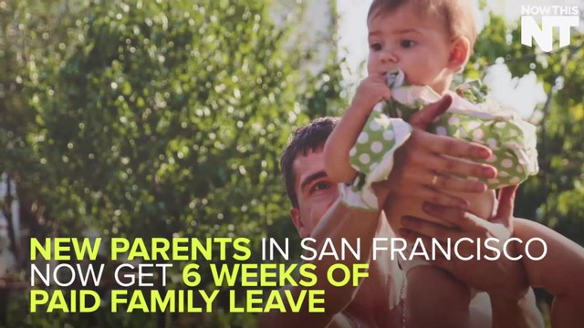 San Francisco Becomes First U.S. City To Guarantee Paid Family Leave