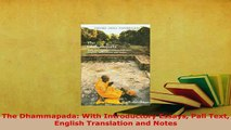 PDF  The Dhammapada With Introductory Essays Pali Text English Translation and Notes Free Books