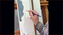 """Cat portraits painting of """"Maurice & """"Penelope"""", time lapse, speed-painting"""