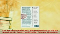 PDF  Les Sauvages Américans Representations of Native Americans in French and English Colonial Free Books