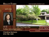Home For Sale in Columbia, MD $ 499,900 - Realty Times TV