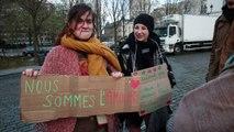 Les indignés de #NuitDebout manifestent pour la première fois à Bruxelles