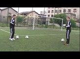 entrainement gardien but : exercice echauffement 2 gardien de but football goalkeeper training