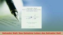 PDF  Salvador Dali Das Geheime Leben des Salvador Dali  Read Online