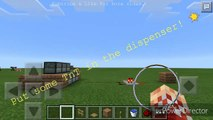 MINECRAFT PE- TnT Rapid Fire Cannon! Redstone Creation!! How to Make A Cannon In MCPE!