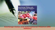 PDF  Exchange Rates and International Finance 5th Edition Read Full Ebook