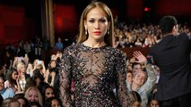 Jennifer Lopez Flaunts Her Fit Physique in Sheer Sparkly 'American Idol' Finale Gown