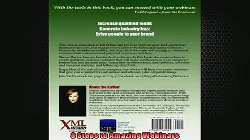 DOWNLOAD PDF  8 Steps to Amazing Webinars FULL FREE