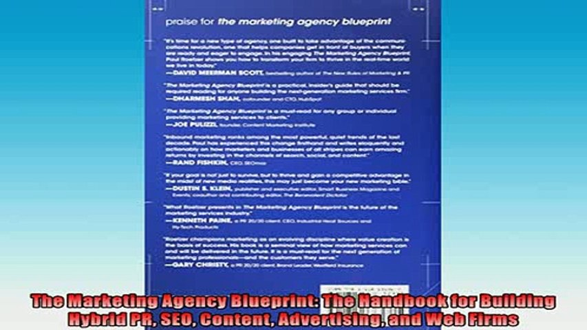 DOWNLOAD PDF  The Marketing Agency Blueprint The Handbook for Building Hybrid PR SEO Content FULL FREE
