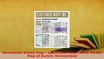 PDF  Streetwise Zurich Map  Laminated City Center Street Map of Zurich Switzerland Download Full Ebook