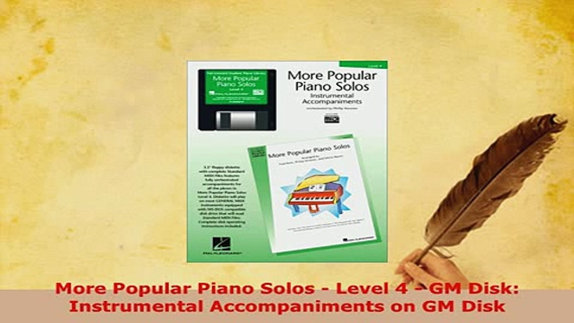 Download  More Popular Piano Solos  Level 4  GM Disk Instrumental Accompaniments on GM Disk Free Boo