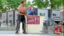 Crazy Old Man Walking Machine Prank