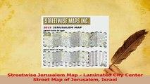 PDF  Streetwise Jerusalem Map  Laminated City Center Street Map of Jerusalem Israel Read Full Ebook