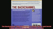 DOWNLOAD PDF  The Backchannel How Audiences are Using Twitter and Social Media and Changing FULL FREE