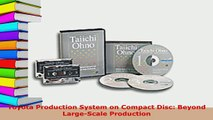 Download  Toyota Production System on Compact Disc Beyond LargeScale Production PDF Online