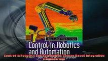 PDF] Control in Robotics and Automation: Sensor Based