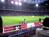 One minute of silence for 'Japan' and 'Alphen aan den Rijn' Benefiet avond Amsterdam Arena.