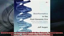 DOWNLOAD PDF  Bioinformatics in the PostGenomic Era Genome Transcriptome Proteome and FULL FREE