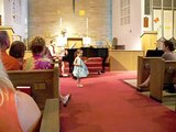 Isabella's first violin recital Monkey Song on the violin with piano 4 years old