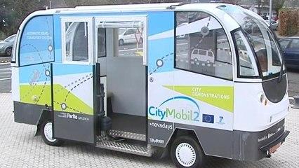 Los autobuses sin conductor ya son una realidad en San Sebastián