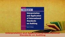 PDF  Interpretation and Application of International Standards on Auditing Read Full Ebook