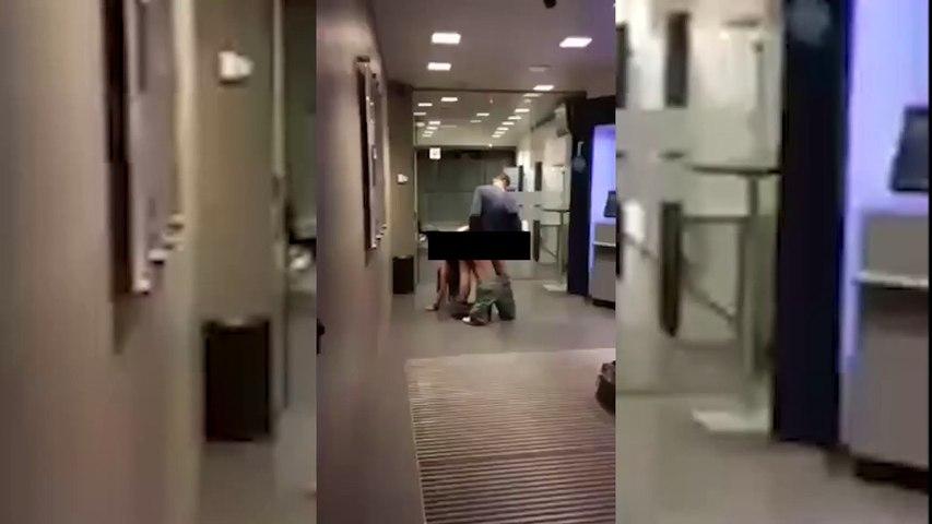 Un couple surpris en plein ébat dans une banque KBC