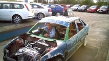 Banger Racing Foxhall Stadium : Getting The Car Ready To Test Down St Johns Road April 2012