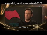 Ben Affleck, Henry Cavill, And Zack Snyder Interview For The Movie Batman Vs. Superman: Dawn Of Justice.