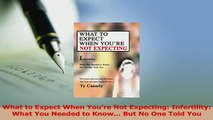Read  What to Expect When Youre Not Expecting Infertility What You Needed to Know But No Ebook Free