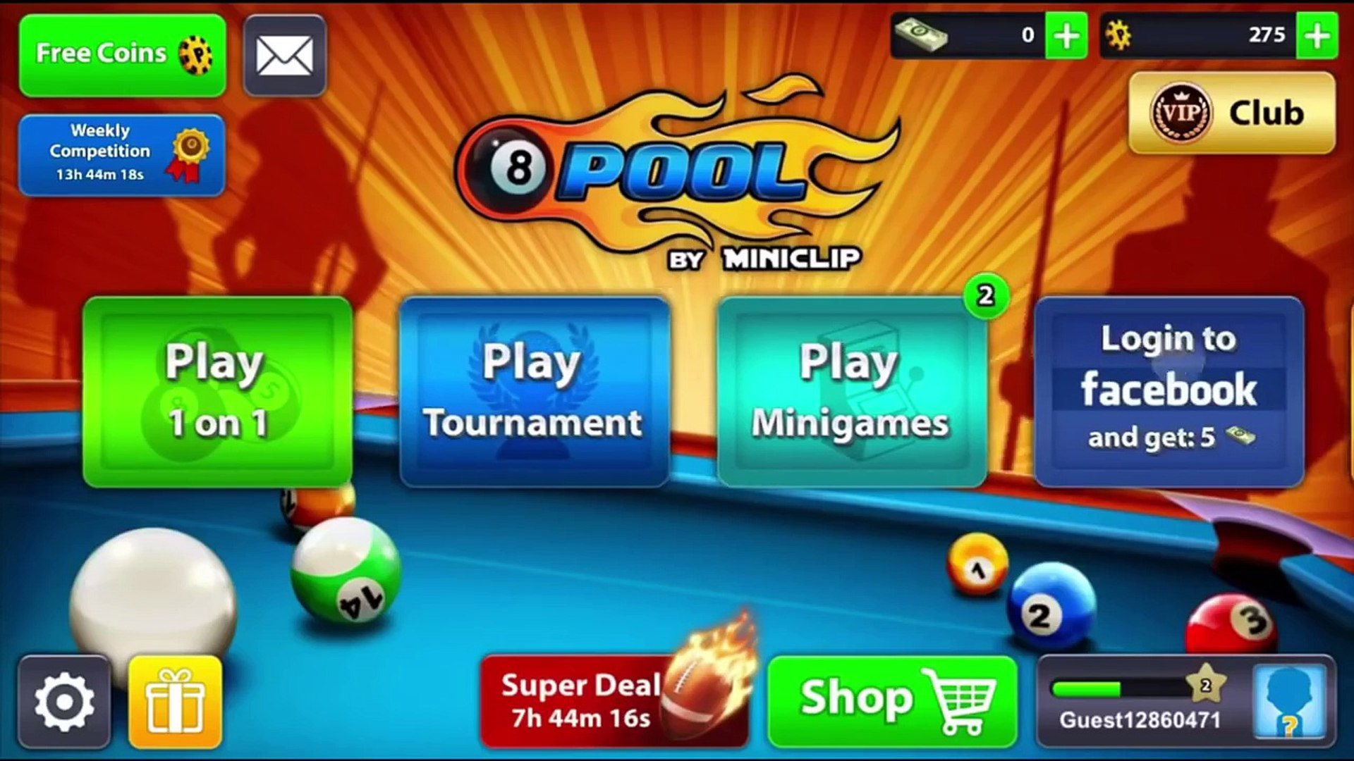 HOW TO BECOME BLACK DIAMOND VIP IN MINICLIP 8 BALL POOL -