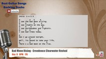 Bad Moon Rising - Creedence Clearwater Revival Vocal Backing Track with chords and lyrics