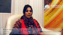 Rahit Aziz Speaks about Khawaja Foundation Lahore Pakistan