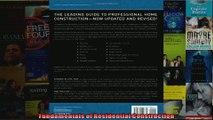 Read  Fundamentals of Residential Construction  Full EBook