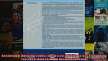 Read  Residential Building Codes Illustrated A Guide to Understanding the 2009 International  Full EBook