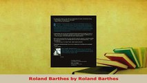 Download  Roland Barthes by Roland Barthes Read Online