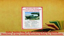 PDF  Holts Battle Map of Normandy DDay Landing Beaches Dday Landing Beaches Battle for Download Full Ebook