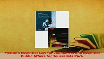 Download  McNaes Essential Law for Journalists and Essential Public Affairs for Journalists Pack PDF Free