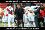Colón 1 - River Plate 2. Clausura Argentino 2008.