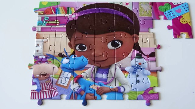 Puzzle Games Toys Doc McStuffins Disney Rompecabezas Hallie Chilly Puzzles Kids Learning Videos