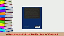 Download  A Restatement of the English Law of Contract Ebook Online