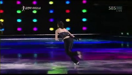 ias 2009 queen yuna kim dont stop the music by davici figure skating yuna kim ice show