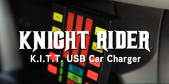 Convierte a tu coche en El Coche Fantástico: Knight Rider K.I.T.T. USB Car Charger