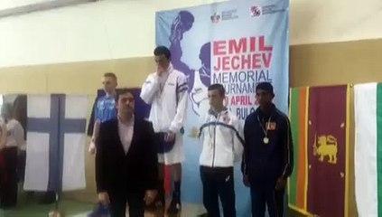 Bilal Bennama (Junior - 49 kg) remporte le tournoi international Emil Jetchev Memorial