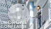 Cet étrange drone gonflable peut attraper et livrer des objets