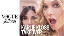 Quand Karlie Kloss vole la caméra de Vogue Paris #VogueFollows