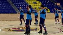 FCB Lassa (hoquei): Declaracions de Ricard Muñoz i Matías Pascual prèvia al partit CE Noia Freixenet - Barça Lassa