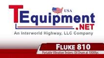 Fluke 810 Vibration Testers: Oil Drum Vibrations