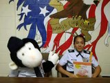 "Spring Valley HS AFJROTC reads Cool Monkey ""Little Piglet"""